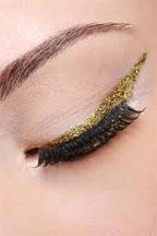 Gold-eyeliner
