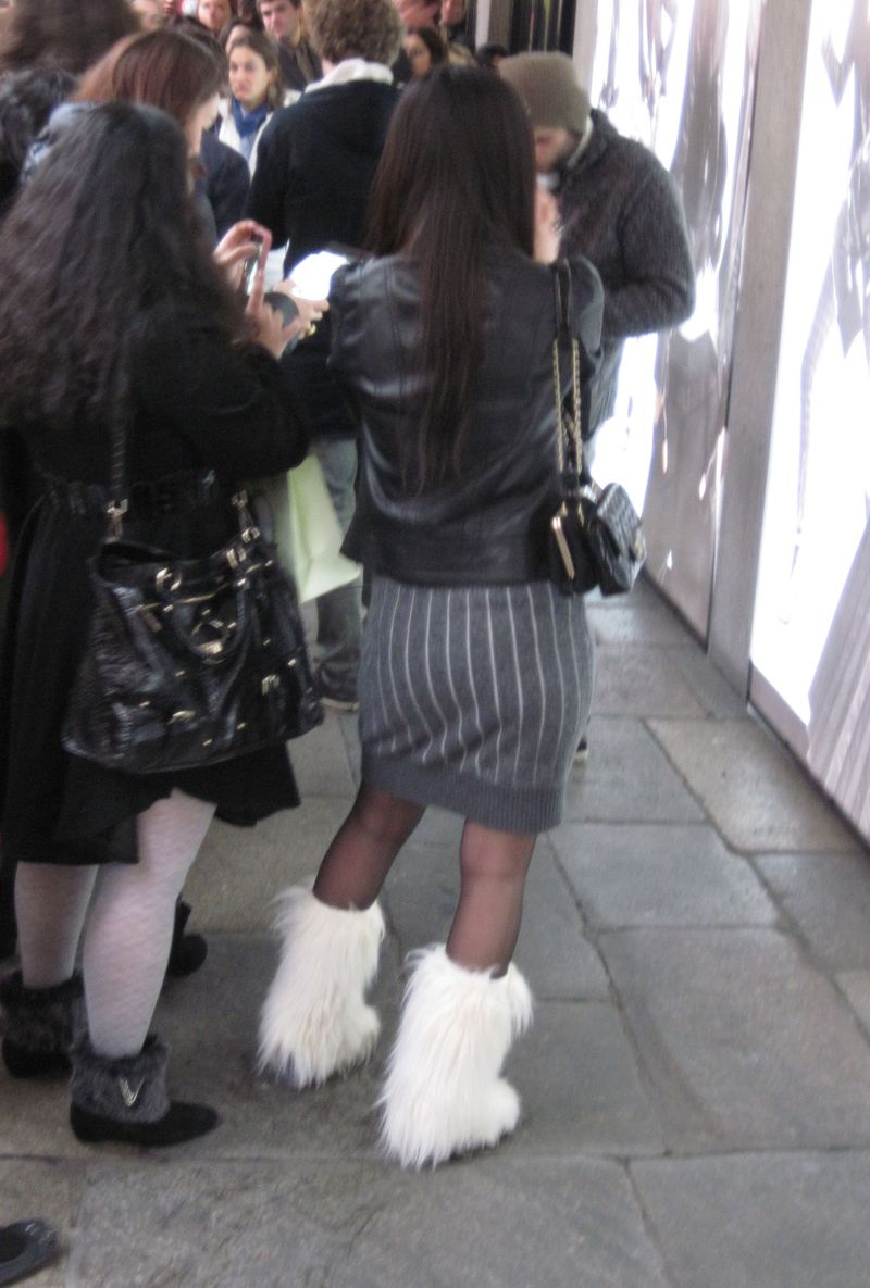 Furry-white-boots