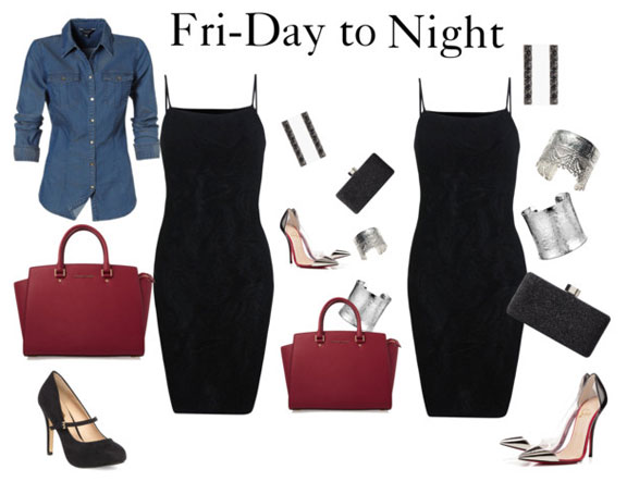 a4be7f183cf How To Take An LBD From Fri-Day To Night - The A-List - Fashion ...