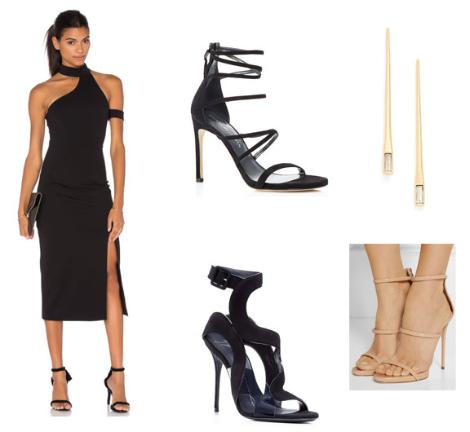 Black-Shoulder-Accent-Dress