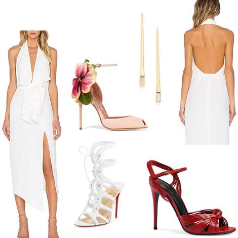 Sexy-White-Dress-Plunge-Neckline