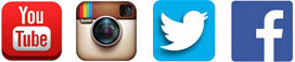 YouTube-Instagram-Twitter-Facebook